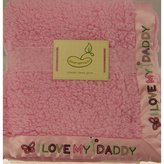 Beansprout Bean Sprout I Love Daddy Pink Crib Baby Throw