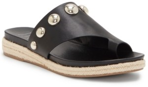 INC International Concepts Inc Women's Gilah Ball-Stud Hooded Footbed Sandals, Created for Macy's Women's Shoes