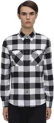 Calvin Klein Jeans Check Cotton Flannel Western Shirt