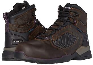 Ariat Rebar Flex 6 Waterproof Carbon Toe (Dark Brown) Women's Work Boots