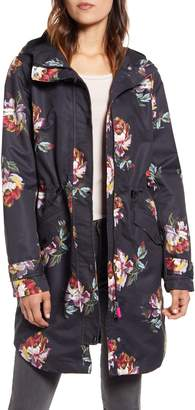 Joules Loxley Floral Print Waterproof Hooded Raincoat