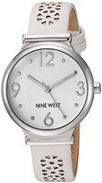 Nine West Women's Quartz Metal and Polyurethane Dress Watch, Color:White (Model: NW/1781WTWT)