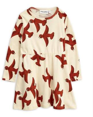 Mini Rodini Flying Birds Long-Sleeve Dress 2-8 Years