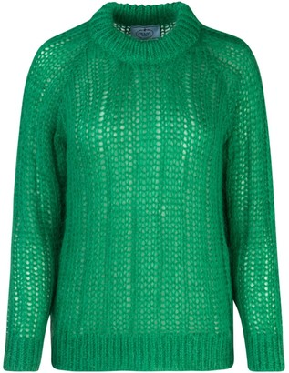 Prada Ribbed Knitted Sweater