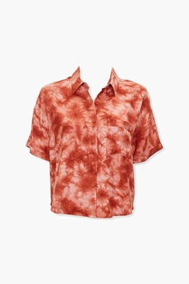 Forever 21 Tie-Dye Pocket Shirt