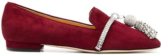 Giannico Louis bejewelled tassel loafers