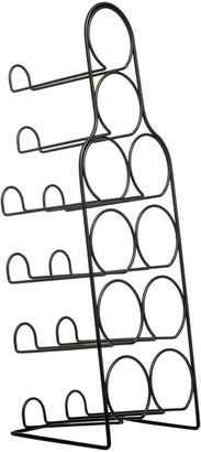 Premier Housewares Metal Wire 10-Bottle Wine Rack Black