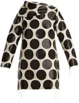 Marques Almeida MARQUES'ALMEIDA Circle-jacquard asymmetric-neck dress