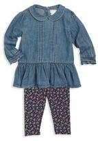 Ralph Lauren Baby's Two-Piece Peplum Top & Leggings Set