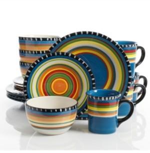 Gibson Pueblo Springs 16-piece Dinnerware Set Blue, Service for 4