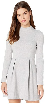 BCBGeneration Day Long Sleeve Knit Dress XGN6252431 (Heather Grey) Women's Clothing