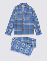 Marks and Spencer Pure Cotton Checked Pyjamas (1-16 Years)