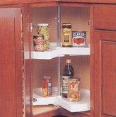 "Knape & Vogt KV Lazy Susan Kidney Shaped 1 Polymer Shelf 18"" (Shelf Only) White"