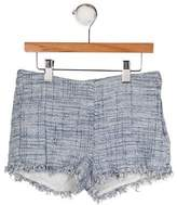 Il Gufo Girls' Tweed Mini Shorts