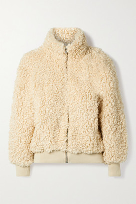 Apiece Apart Sienta Faux Shearling Jacket - Beige