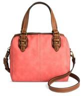 Merona Women's Nubuck Satchel Handbag with Foxford Trim
