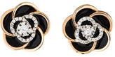 Roberto Coin 18K Diamond & Enamel Floral Earrings