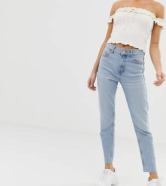 Bershka straight leg jeans in light blue