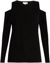 Velvet by Graham & Spencer Avril cut-out shoulder cashmere sweater