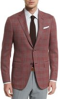 Ermenegildo Zegna Plaid Two-Button Jacket, Red/Gray