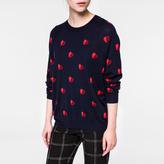 Paul Smith Women's Navy 'Half-Heart' Intarsia Merino Wool Sweater