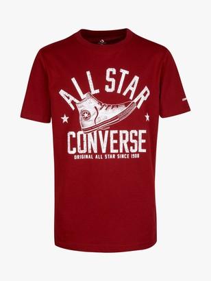 Converse Boys' Collegiate Shoe Graphic T-Shirt, Red