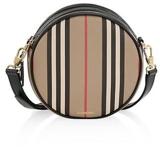 Burberry Louise Icon Stripe E-Canvas Crossbody Bag