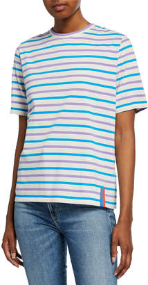 Kule Striped Crewneck Short-Sleeve Cotton Tee