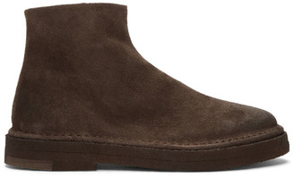 Marsèll Brown Suede Parapa Tronchetto Zip Boots