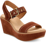 Clarks Artisan Aisley Orchid Wedge Sandals