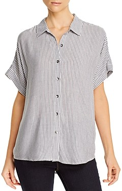 Splendid Lily Striped Short-Sleeve Shirt