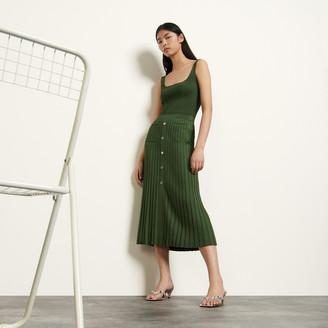 Sandro Long knit skirt