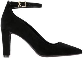 MICHAEL Michael Kors High Heel Shoes Mila Pumps In Suede With Ankle Strap