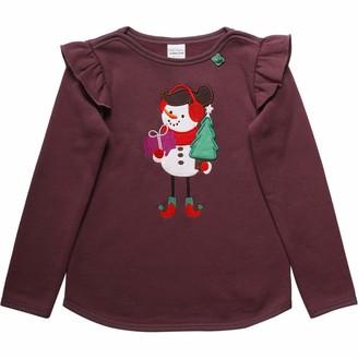 Fred's World by Green Cotton Girl's Hello Snowgirl Sweat Sweatshirt
