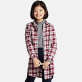 Uniqlo Girls Flannel Long Sleeve Long Shirt
