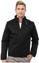 Calvin Klein Cotton Nylon Moto w/ Faux Leather Detail