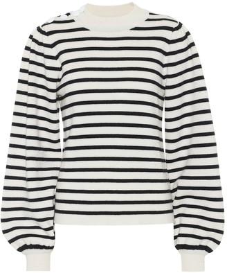 Ganni Wool-blend striped sweater
