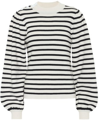 Ganni Wool-blend striped sweater