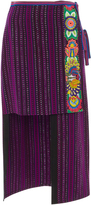 Anna Sui Embroidered Jacquard Skirt