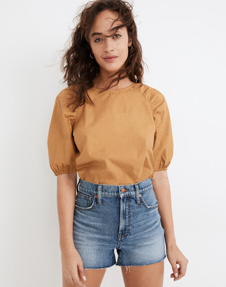 Madewell The Perfect Jean Short in Bartow Wash: TENCEL Denim Edition