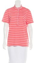 Tory Burch Striped Polo Top