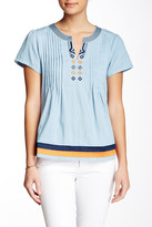 Julie Brown Mabel Chambray Tunic Blouse