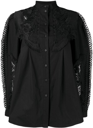 Alberta Ferretti Lace Embroidered Shirt