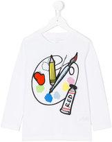 Stella McCartney paint print top - kids - Cotton - 2 yrs