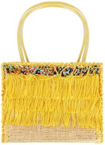 Pate De Sable Girls Yellow Tassel Bag With Beads