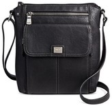 Bolo Women's Faux Leather Crossbody Handbags with Front/Back/Interior Compartments - Black