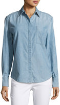Vince Oversized Chambray Shirt, Blue