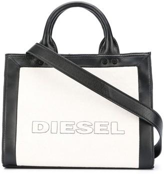 Diesel Colour-Block Logo Micro Tote Bag