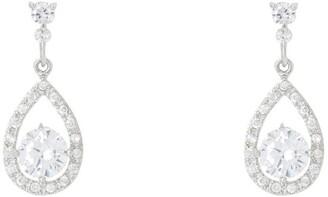 Gregory Ladner Teardrop Shape Cz Earrings