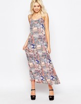 Influence Printed Cami Swing Maxi Dress